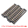 4 Pcs 10 Positions Dual Rows 600V 15A Wire Barrier...