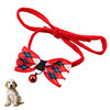 Pet Dog Ployester Rhombus Printing Bell Decor Stra...