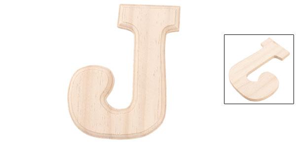 Livingroom Wooden Decor English J Letter Alphabet Word Free DIY Wall Wood Color