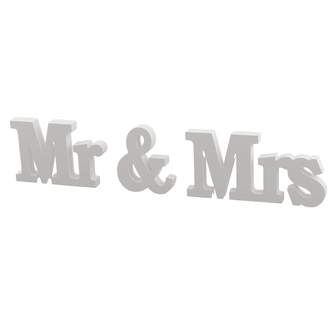 Wedding Decoration Plywood Generic Mr and Mrs Letters Free DIY Wall White 3 in 1