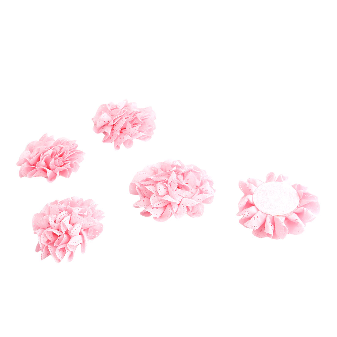 Home Living Room Bedroom Fabric Table Wall Decoration Handcraft DIY Flower 5 Pcs