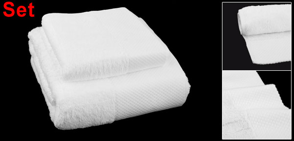 Bathroom 100% Cotton Blend Hotel & Spa Softness Absorbency Towel Set White