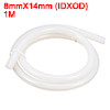 8mm x 14mm Food Grade Beige Silicone Tube Water Ai...