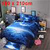Oil Print 3d Galaxy Bedding Set Quilt Duvet Cover Single Size (Bl...
