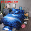Oil Print 3d Galaxy Bedding Set Quilt Duvet Cover Queen Size (Blu...