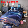 Oil Print 3d Galaxy Bedding Set Quilt Duvet Cover Single Size (Pu...