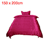 Silk Blend Duvet Cover Bedspread Pillowcase Bedding Set Wine Red, Twin Size