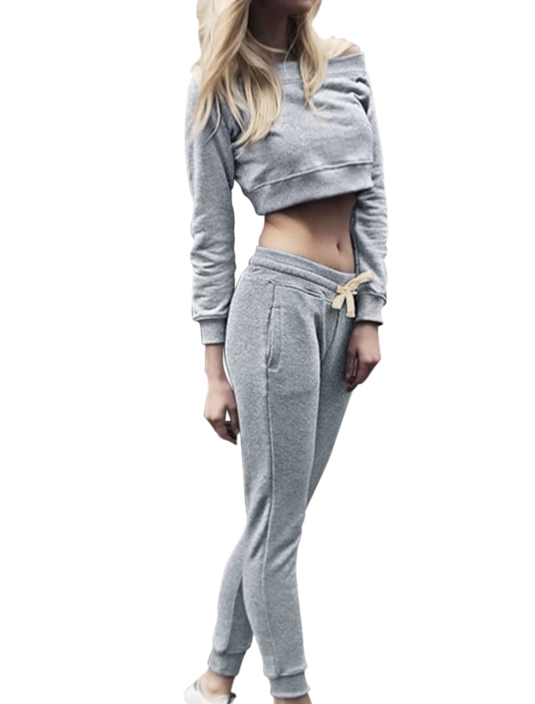 Women-Off-Shoulder-Long-Sleeve-Cropped-Top-w-Drawstring-Waist-Pants-Set