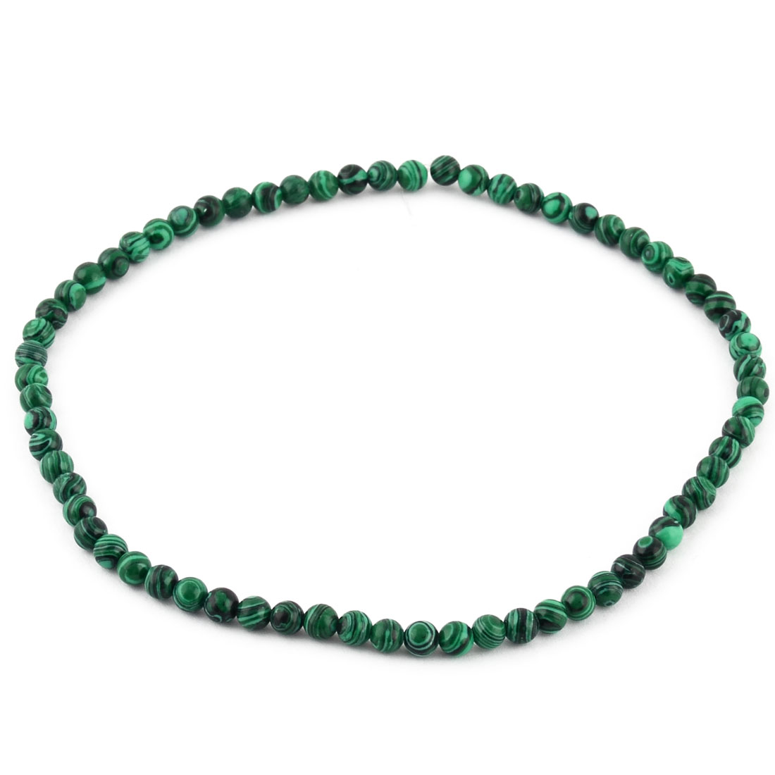 Malachite Pattern Beading Decor Necklace Bracelet Making Beads Strand 0.6cm Dia