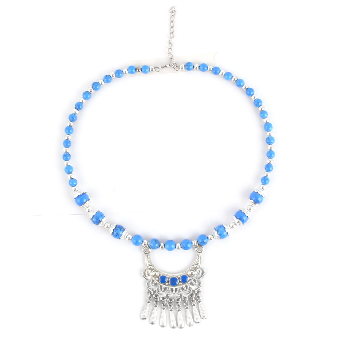 Home Shopping Woman Lady Plastic Bead Ethnic Style Pendant Necklet Necklace