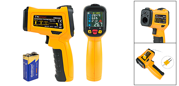 DM6530D Non-contact Digital Laser Infrared Thermometer GUN Handheld