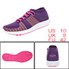 PYPE Women Knitting Mesh Upper Striped Lace Up Training Shoes Pur...