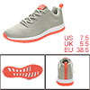 PYPE Women Mesh Contrast Color Round Toe Training Sneakers Gray US 7.5