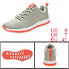 PYPE Lady Contrast Color Round Toe Training Sneakers Gray US 9