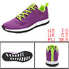 PYPE Women Mesh Contrast Color Round Toe Training Sneakers Purple US 7.5