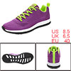 PYPE Women Mesh Contrast Color Round Toe Training Sneakers Purple US 8.5