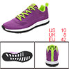 PYPE Women Mesh Contrast Color Round Toe Training Sneakers Purple US 10