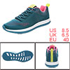PYPE Lady Mesh Contrast Color Round Toe Training Sneakers Blue US...