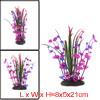 1 PC Aquarium Fish Tank Artificial Purple Flower Decor 8x5x21cm