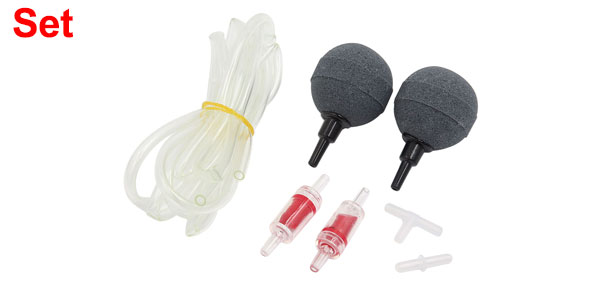 Aquarium Air pump Accessories Set Air Stones Check Valves Airline