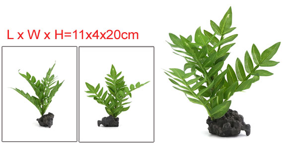 Aquarium Fish Tank Decoration Artificial Aquatic Plants 11x4x20cm