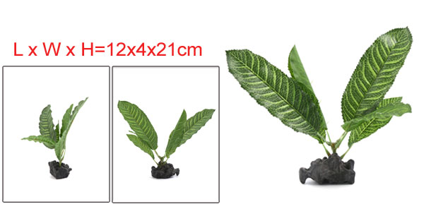 Aquarium Fish Tank Decoration Aquatic Stem Plants 12x4x21cm