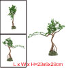 Aquarium Fish Tank Green Artificial Tree Design Ornament 23x6x29c...