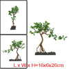Aqua Fish Tank Green Tree Decor Ornament With Plastic Base 16x6x26cm