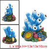 Aquarium Tank Decoration Bubble Maker Blue Starfish Ornament 13x1...
