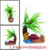 Aquarium Fish Tank Decoration Bubble Maker Coconut Tree and Seash...