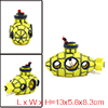 Aquarium Fish Tank Decoration Bubble Maker Yellow Spaceship Ornam...