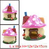 Fish Tank Mushroom House With Chimney Bubble Maker Ornament 12x12...