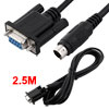 RS232 DB9P Female to Male 8P Mini Din PLC Cable 2....