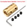 7mm to 7mm Bore Brass Robot Motor Wheel Coupling C...
