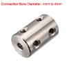 4mm to 4mm Bore C45 Steel Robot Motor Wheel Coupli...