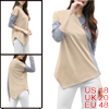 Women Color Block Handkerchief Hem Drop Shoulder L...