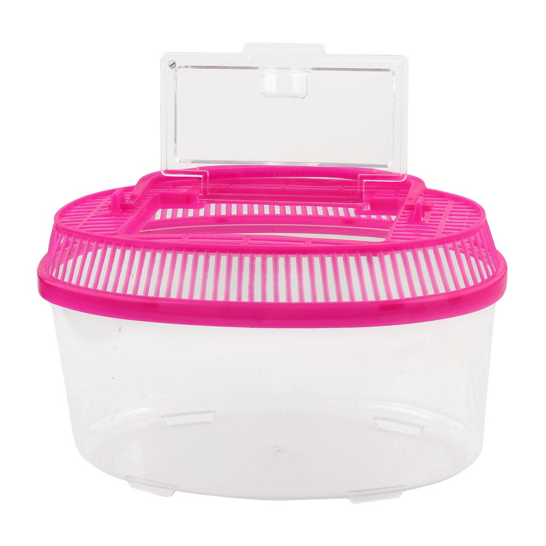 Plastic Oval Shape Aquarium Betta Fish Tank Pet Feed Box