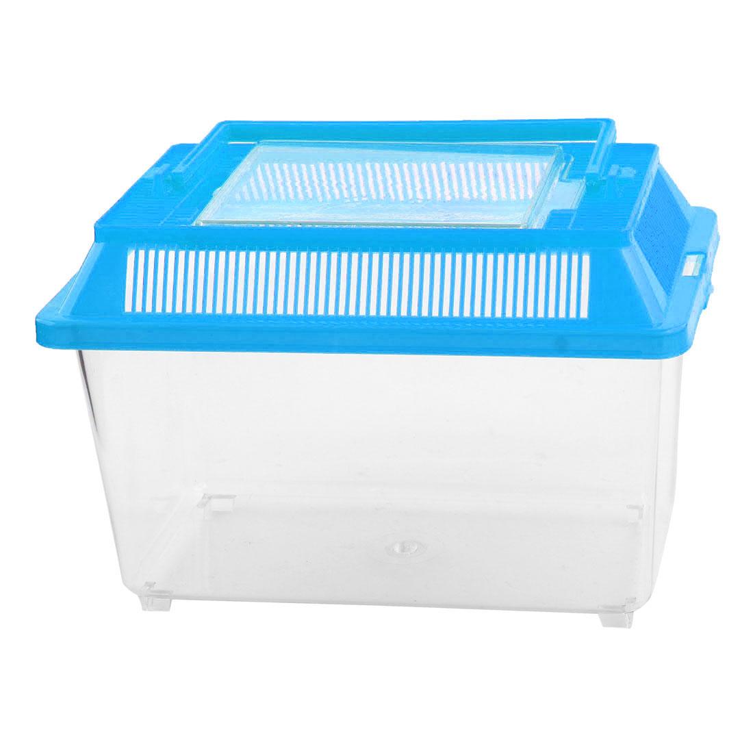 Plastic Rectangle Design Aquarium Betta Fish Tank Pet Feed Box