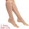 Unisex Zip Up Knee High Ankle Band Toeless Compres...