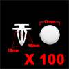 "100 Pcs 10mm Hole 0.39"" Car Plastic Push in Rivet ..."