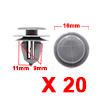 20Pcs 9mm Hole Dia Plastic Rivets Fastener Clips G...