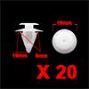 20 Pcs 9mm Hole Dia 18mm Head Plastic Rivets Faste...