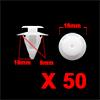 50 Pcs 9mm Hole Dia 18mm Head Plastic Rivets Faste...