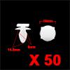 50Pcs 8mm Hole Dia 16mm Head Car Screw Fastener Ri...