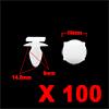 100Pcs 8mm Hole Dia 16mm Head Car Screw Fastener R...
