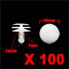 100 Pcs 7mm Hole 19mm Head Dia Plastic Rivet Inter...