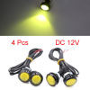 4pcs Yellow 23mm Projector Eagle Eye LED Daytime R...