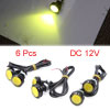 6pcs Yellow 23mm Projector Eagle Eye LED Daytime R...
