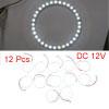 12pcs White 100mm 1210 SMD 33 LED Angle Eyes Halo ...