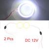 2pcs 60mm Outer Dia White LED Light COB Halo Angel...